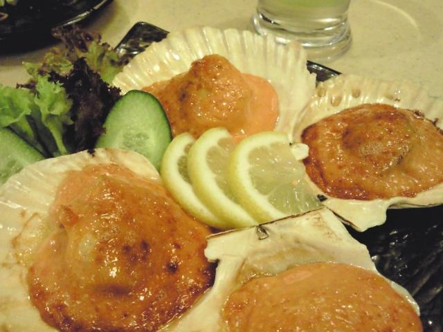 Hotate mentaiyaki