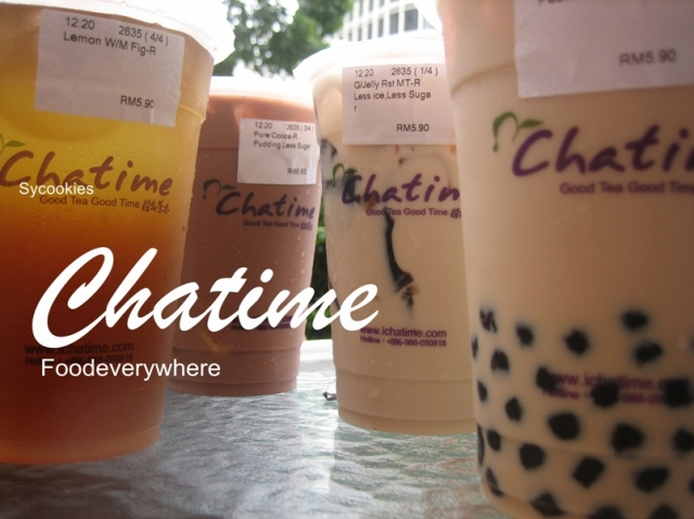 1. various flavours of freshly brewed tea and coffee with pearl @ chatime